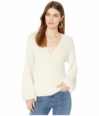ASTR the Label Women's Denali Surplice V Neck Long Sleeve Wrap Sweater