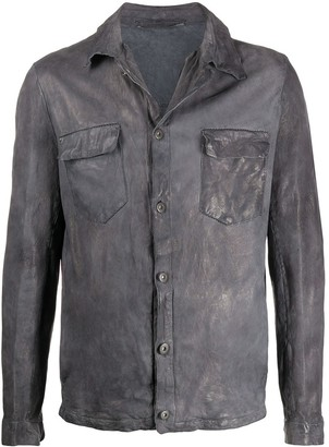 Salvatore Santoro leather shirt jacket
