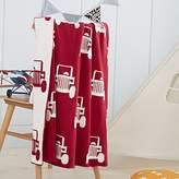 YEVEM Baby Kids Knitted Red Blankets Cars Pattern Throw Blanket Carpet for Infant Baby Child Swaddle Blanket Multi Use Stroller Blanket Bedspread Bath Towels Kids Play Mats