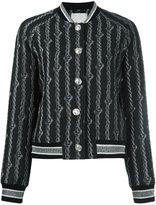 3.1 Phillip Lim brocade varsity bomber jacket - women - Cotton/Acrylic/Nylon/other fibers - 4