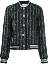 3.1 Phillip Lim brocade varsity bomber jacket - women - Cotton/Acrylic/Nylon/other fibers - 6