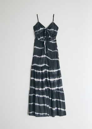 Which We Want Women's Chana Tie Dye Dress in Black, Size Small | 100% Cotton