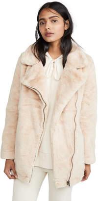 Apparis Rose Faux Fur Coat