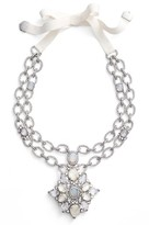 Jenny Packham Women's Mother Of Pearl & Crystal Pendant Necklace