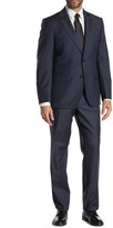 JB Britches Logan Navy Sharkskin Two Button Notch Lapel Wool Classic Fit Suit