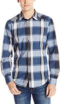 Calvin Klein Jeans Men's Indigo Plaid Button Down Shirt