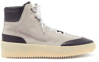 Fear Of God Exaggerated Sole Suede Hiking Boots - Mens - Grey Multi