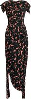 Marni Shatter-print ruched crepe dress