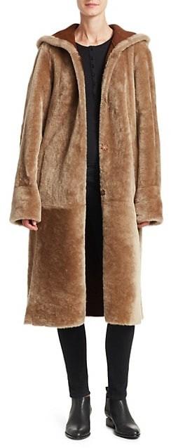 Thumbnail for your product : The Fur Salon Hooded Shearling Jacket