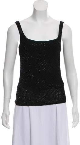 Ralph Lauren Black Label Sleeveless Embellished Top