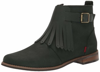Marc Joseph New York Unisex Leather Made in Brazil Ankle Boot with Kilt Detail Chelsea
