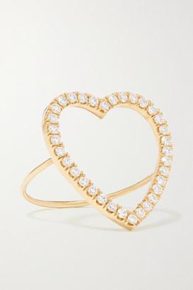 Jennifer Meyer Open Heart 18-karat Gold Diamond Ring