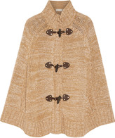 MICHAEL Michael Kors Knitted cotton-blend poncho