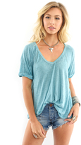 Free People Free Fallin Tee in Dusty Jade