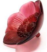Lalique ANEMONE FIGURE SMALL RED