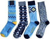 Buffalo David Bitton Men's Aztec Stripe Crew Socks