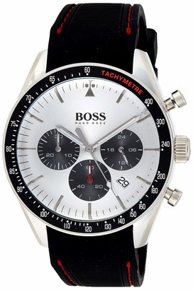 HUGO BOSS Mens Chronograph Quartz Watch with Silicone Strap 1513627