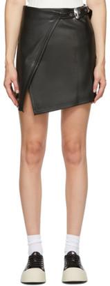 Simon Miller Black Zamora Wrap Miniskirt