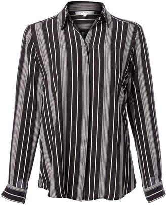 Foxcroft Women's Long Sleeve Addison Stripe Blouse