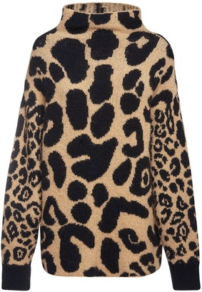 Stella McCartney Leo Intarsia Knit Alpaca Blend Sweater
