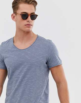 Selected organic cotton t-shirt in blue