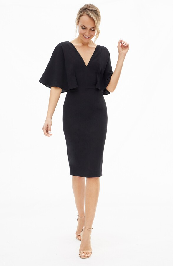 Thumbnail for your product : Dress the Population Louisa Butterfly Sleeve Cocktail Dress