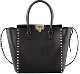 Valentino Rockstud Double-Handle Shoulder Tote Bag