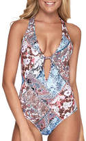Jets Poetic Plunge Neckline One Piece