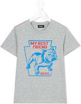 Diesel Bulldog t-shirt - kids - Cotton - 2 yrs