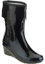Forever Young Women's Fringed Short Wedge Rain Boot