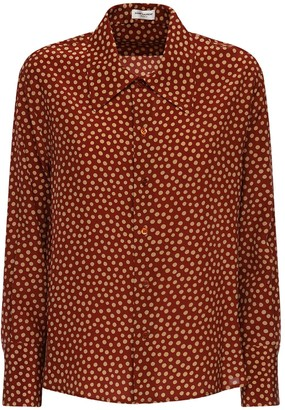 Saint Laurent Polka Dot Silk Crepe Shirt
