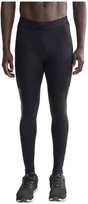 Craft Lumen Urban Run Tights (Black/Silver) Men's Clothing