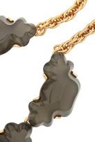 Oscar de la Renta Gold-tone resin necklace