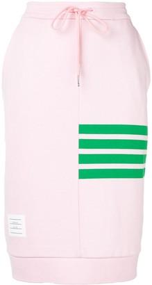 Thom Browne 4-Bar Loopback Jersey Sack Skirt