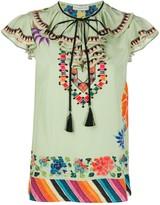 Etro bohemian-print tied-neck blouse
