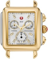 Michele Deco Two-Tone, Diamond Dial Silver/Gold Watch Head Watches