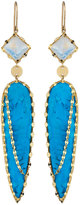 Lana 14k Bliss Spike Turquoise Drop Earrings