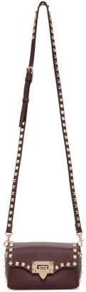 Valentino Burgundy Garavani Mini Rockstud Crossbody Bag