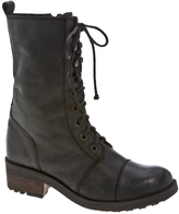 Sm Rawker Leather Combat Boot
