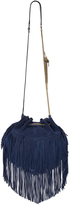 Diane von Furstenberg Love Power Large Suede Fringe Bag