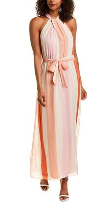 Julia Jordan Striped Maxi Dress