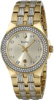 Bulova Women's 98M114 Crystal Stainless Steel Watch