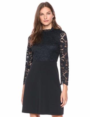 Lark & Ro Women's Long Sleeve Mixed Lace Dress