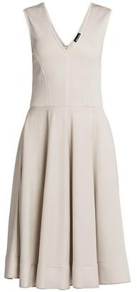 Giorgio Armani Sleeveless Ottoman Jersey Dress