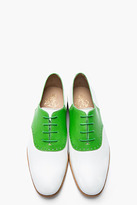 Mr. Hare MR.HARE Green & White Leather Jerry Lee Oxfords