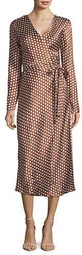 Diane von Furstenberg Tilly Satin Silk Wrap Dress