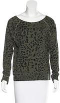Current/Elliott Cheetah Print Long Sleeve Top
