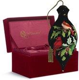 "Precious Moments 7161129 Christmas Gifts, ""Christmas Cardinals"" Artist Susan Winget, Brilliant-Shaped Glass Ornament"