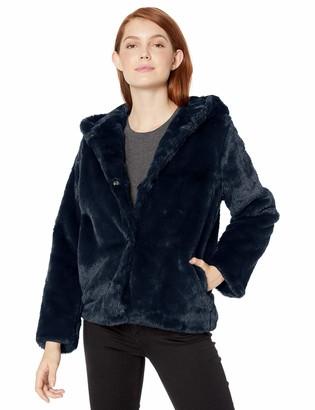 Pink Platinum Women's Plus Size Faux Rabbit Fur Jacket