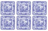 Spode Blue Italian Coasters (Set of 6)